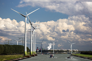 wind farms are a big energy producer in the Netherlands
