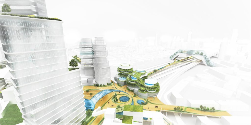 Artist rendering of the socio-technical city in Den Haag