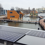 One of the microgrids anaylzed was for the floating community of Schoonschip in Amsterdam.