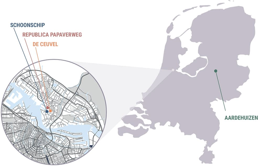 This report examines four projects, each with some element of a decentralised electrical grid: schoonship, de ceuvel, republica paperverweg and aardehuizen.