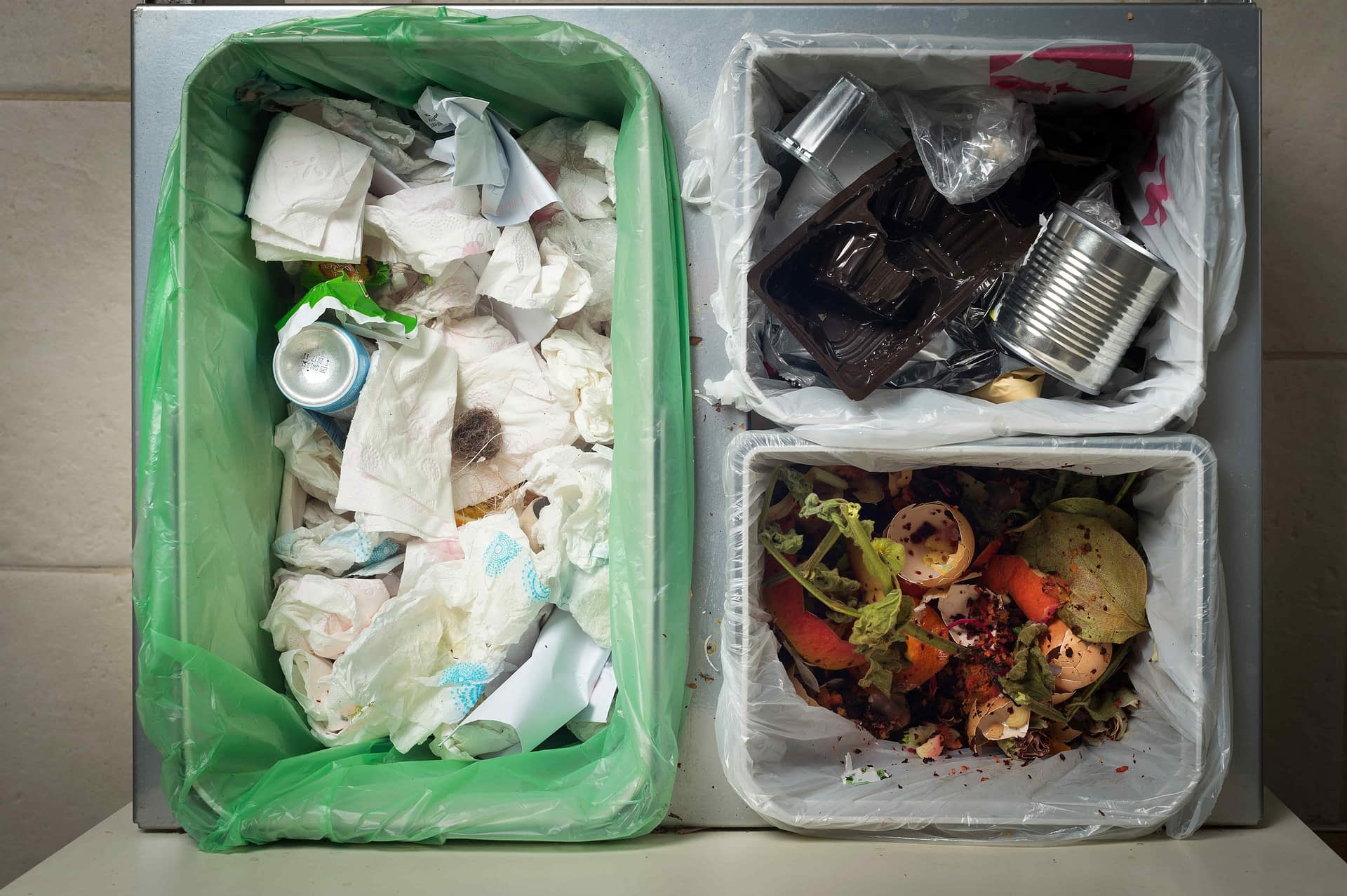 Recommendations included reducing the wastage of food and improving and optimizing waste separation practices.
