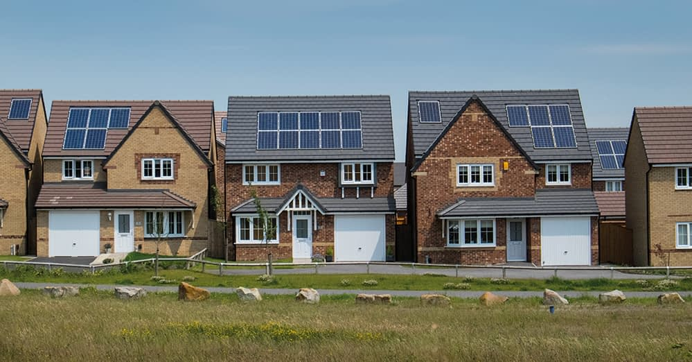 Rural houses with solar panels. Each house and community could be its own micro-grid.
