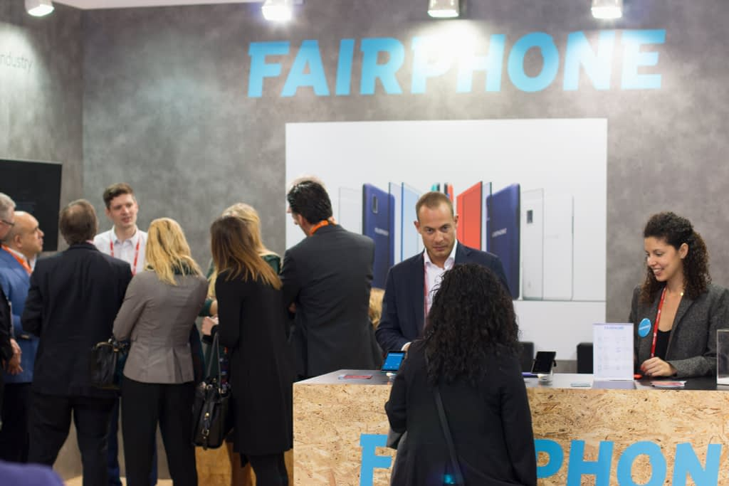 Fairphone headquarters (pictured) during a conference to convince the broader industry to reduce e-waste and other impacts of mobile phones.