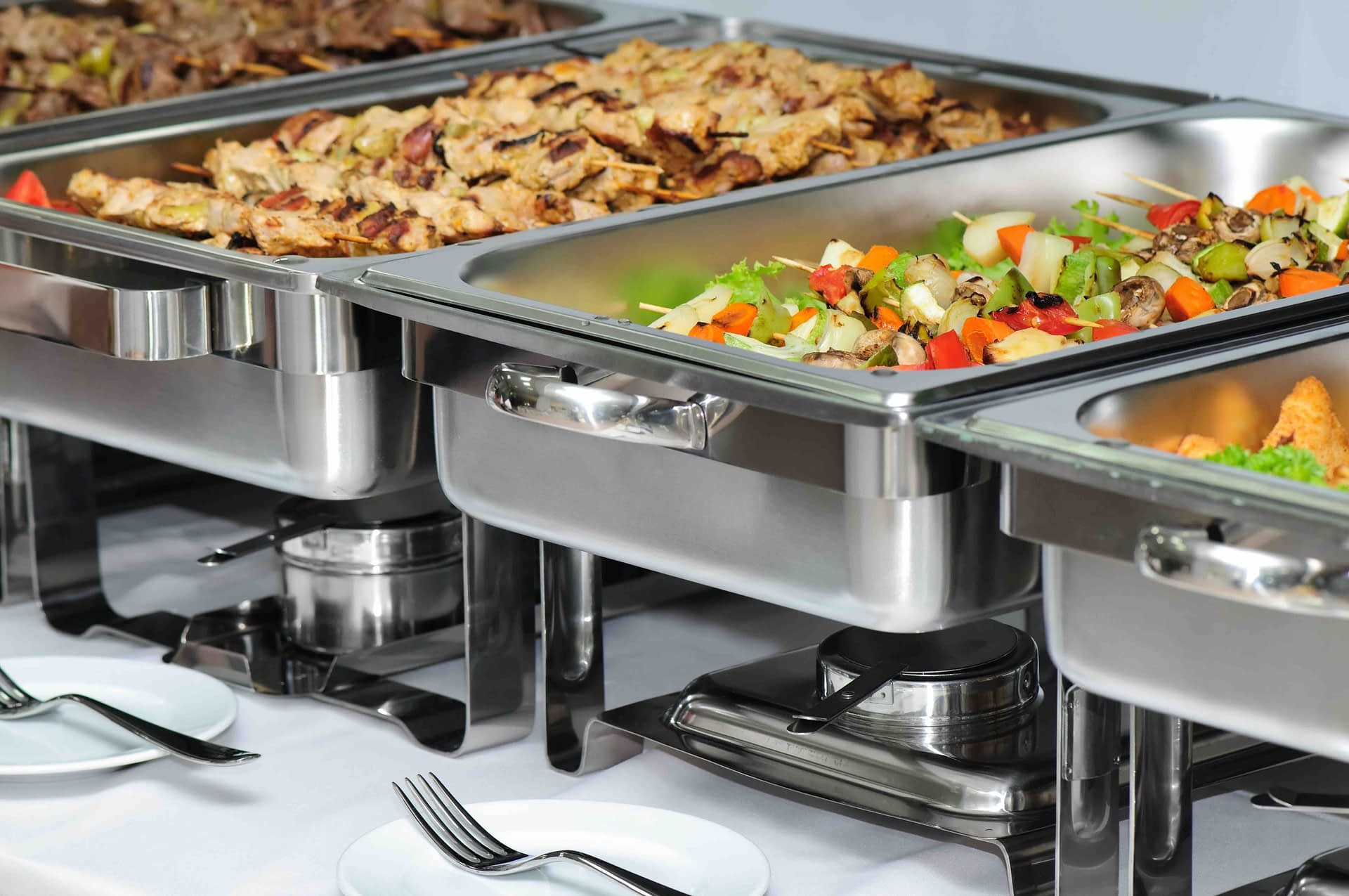 4659177 - banquet table with chafing dish heaters